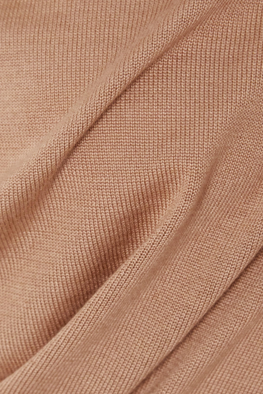 Beige One-shoulder Cashmere And Silk-blend Midi Dress | Tom Ford