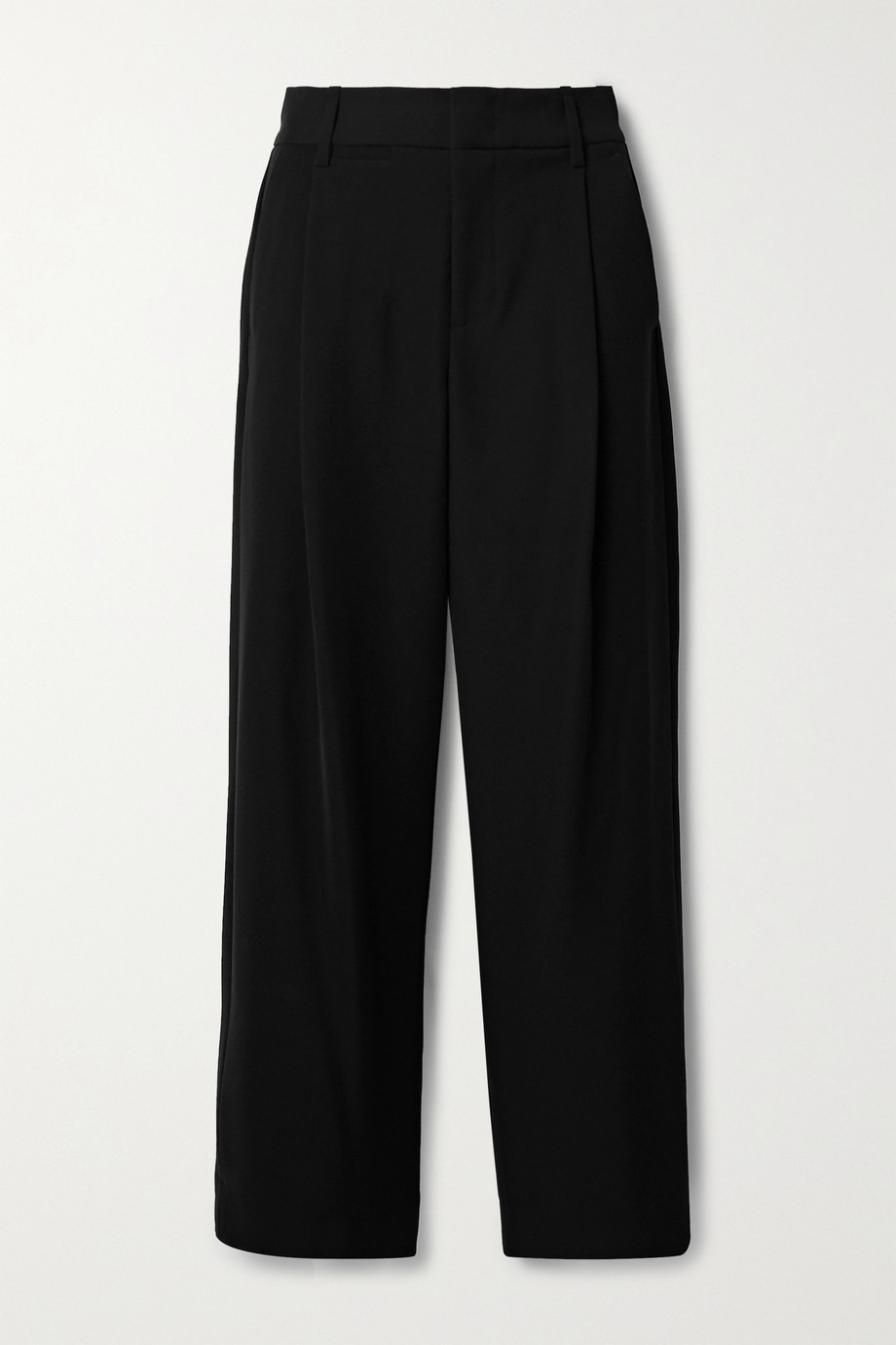 Vince Pleated crepe wide-leg pants
