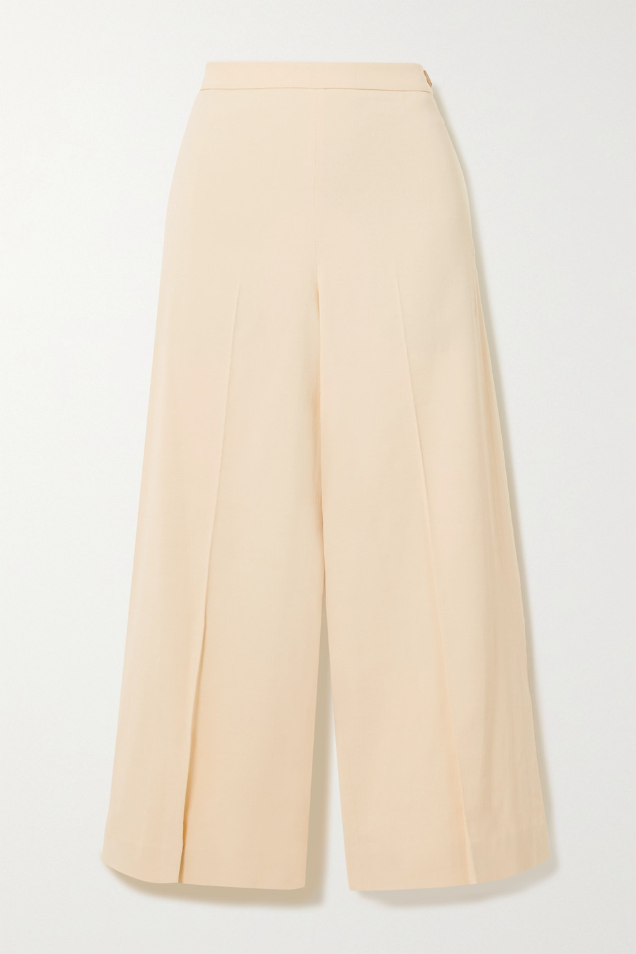 Vince Cropped stretch-gabardine wide-leg pants