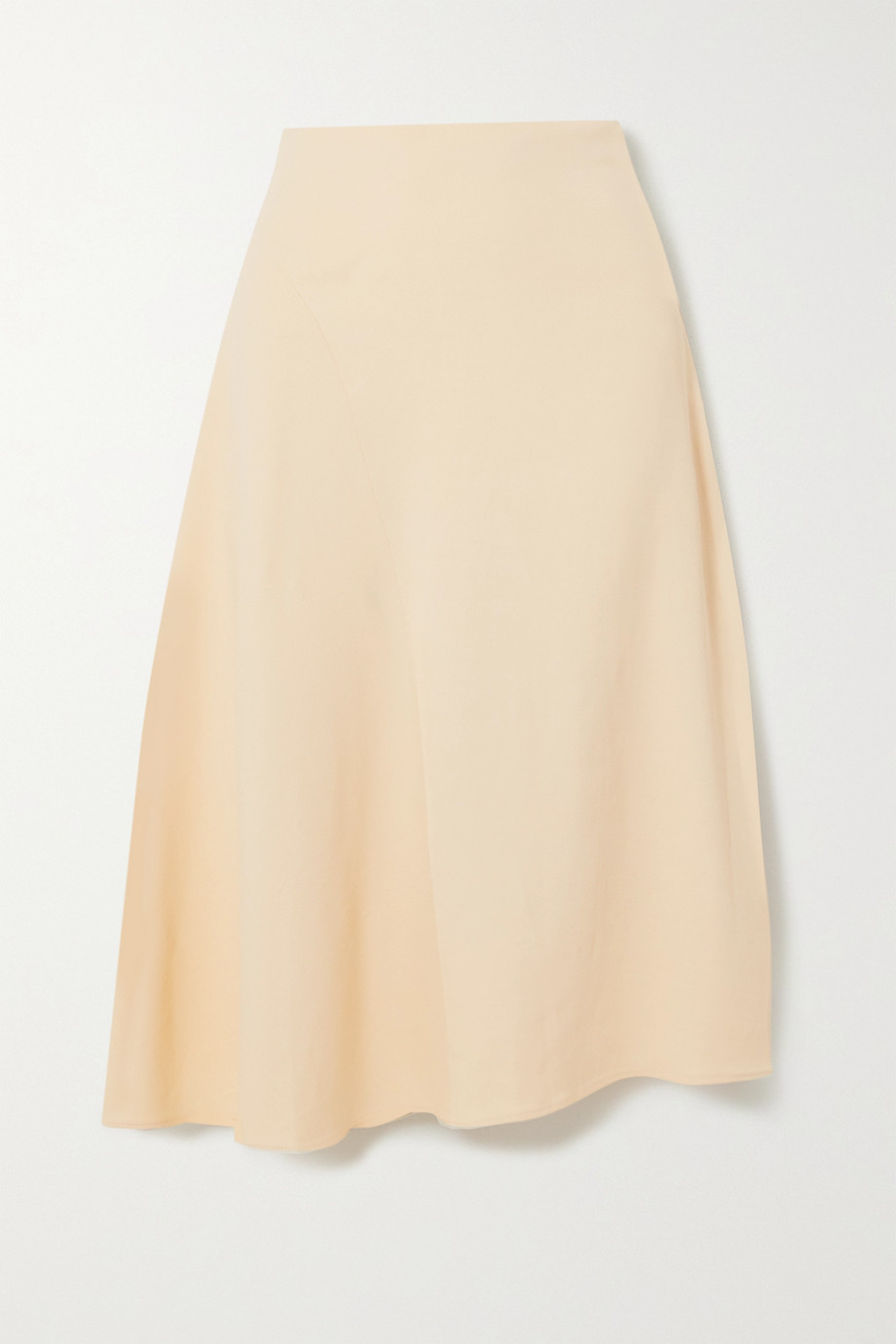 Vince Asymmetric twill midi skirt