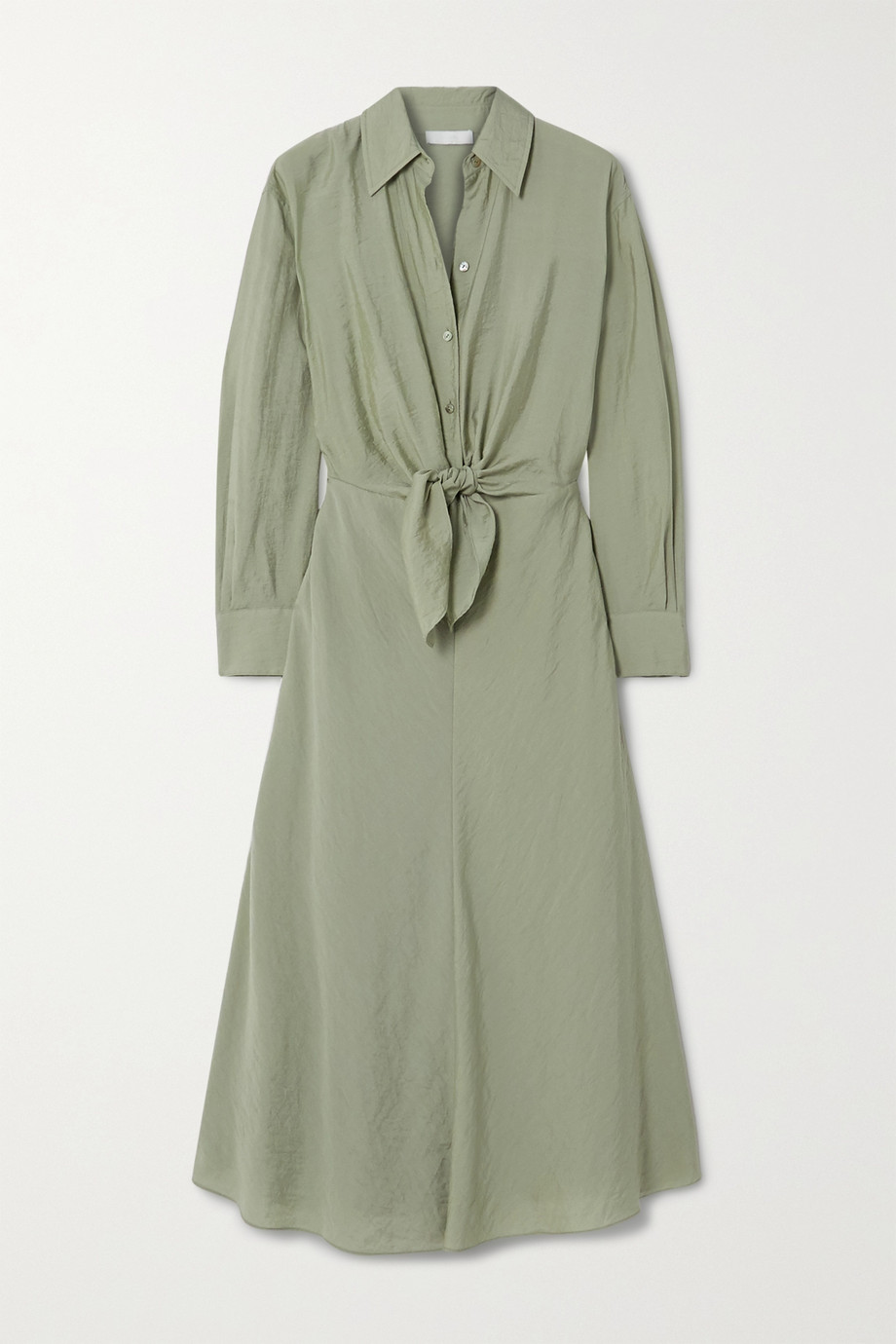 Vince Tie-detailed twill shirt dress