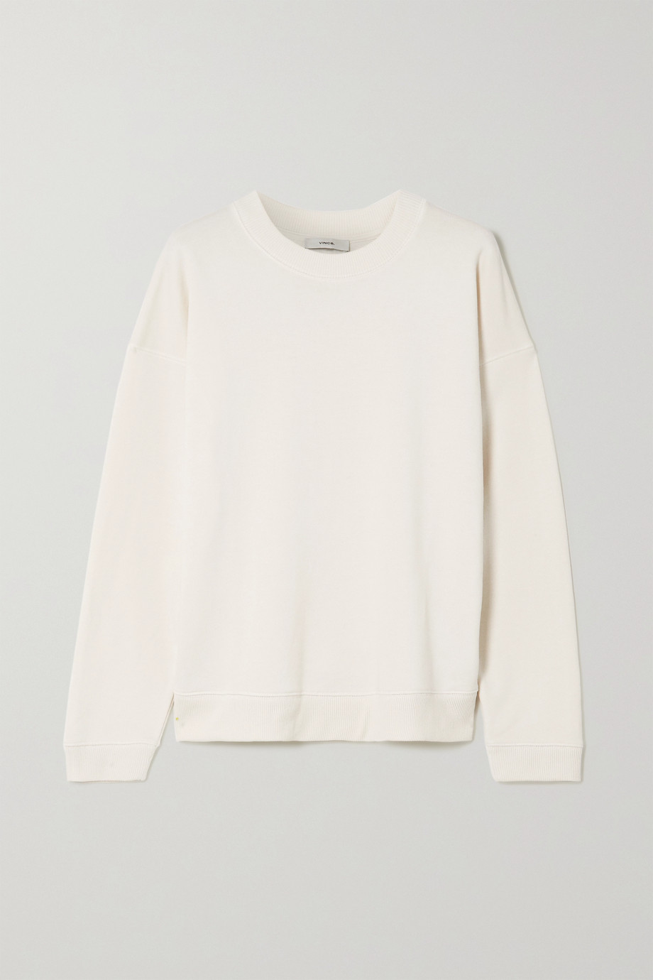 Vince French cotton-terry sweatshirt