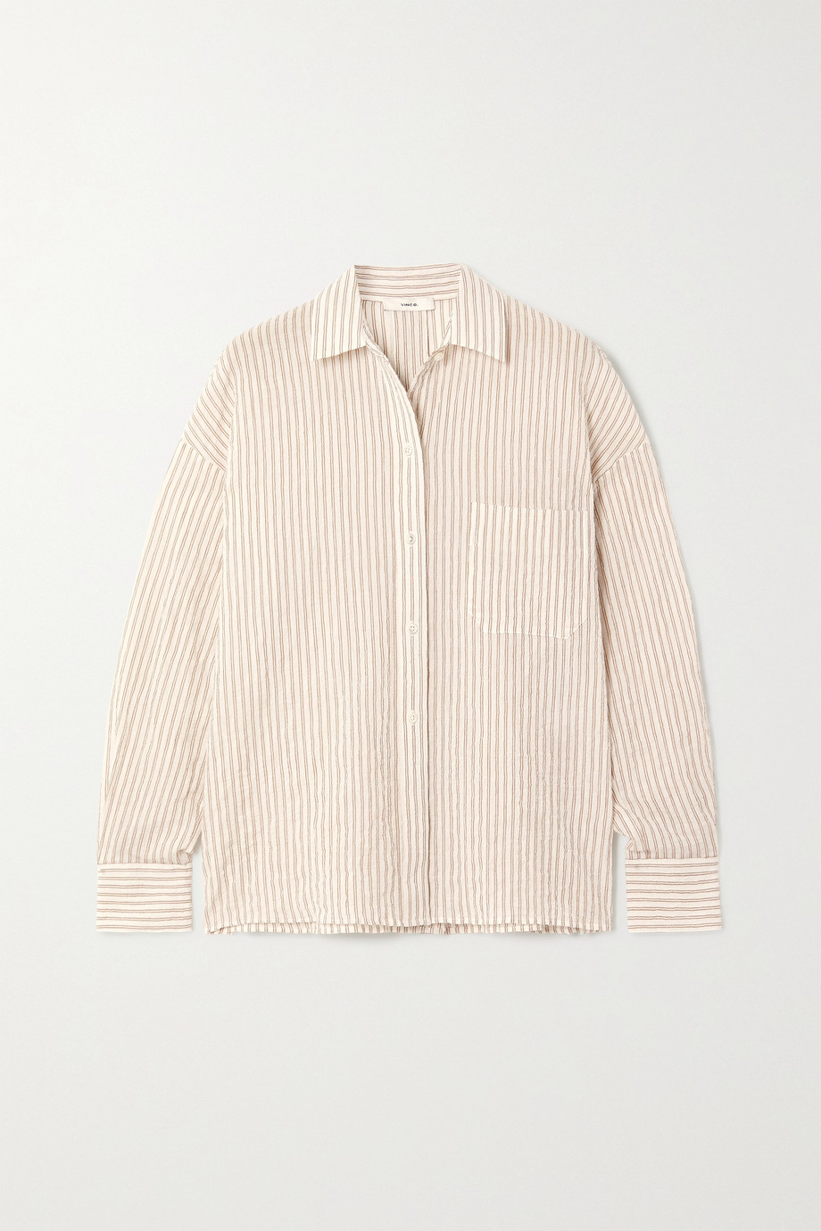 Vince Striped stretch-cotton shirt