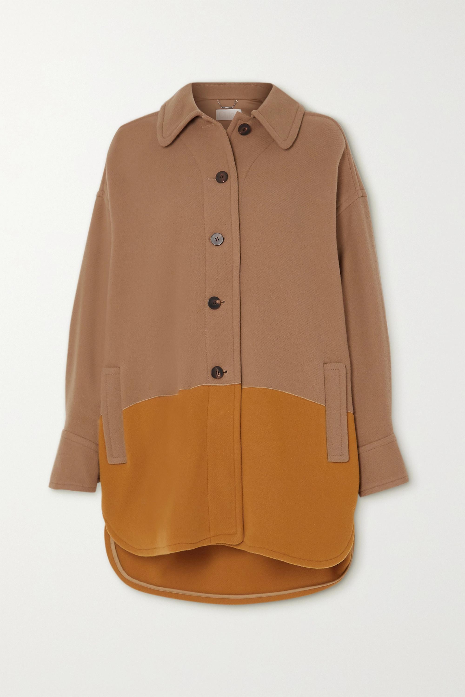 Chloé Manteau en laine mélangée bicolore