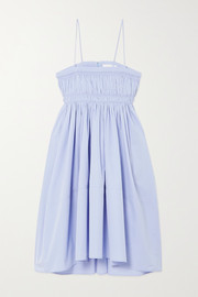 Chloé Shirred cotton-poplin dress