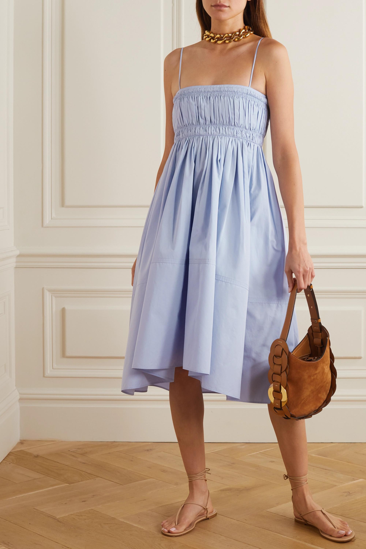 Chloé Shirred cotton-poplin dress