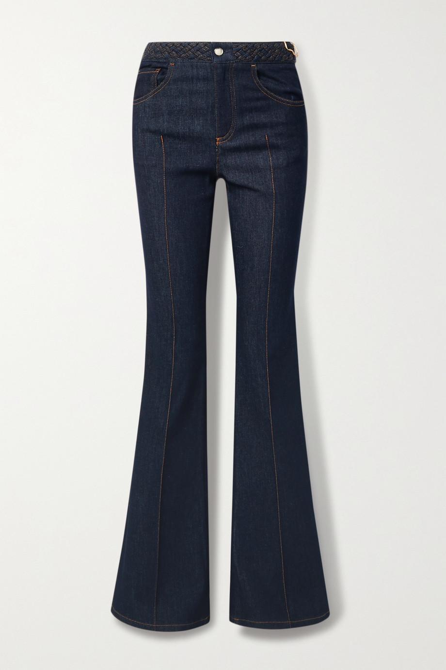 Chloé Braided high-rise bootcut jeans