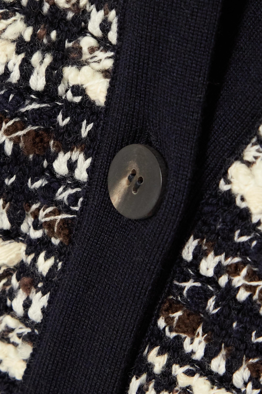 Chloé Wool-blend tweed cardigan