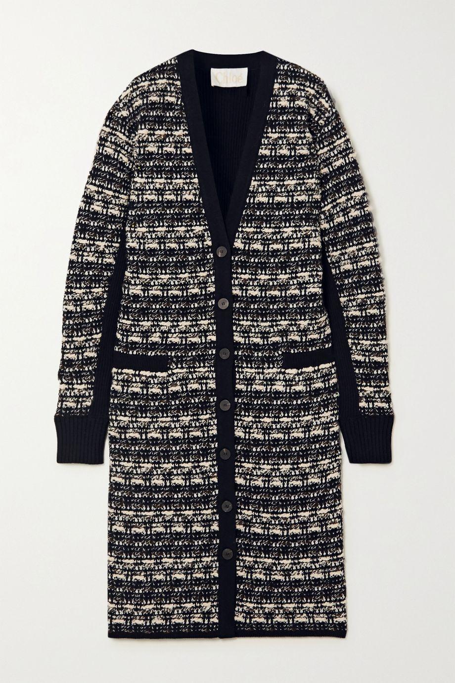 Chloé Cardigan aus Tweed aus einer Wollmischung