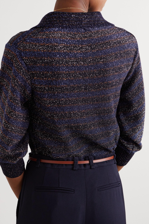 Chloé Polohemd aus Lurex® aus einer Wollmischung