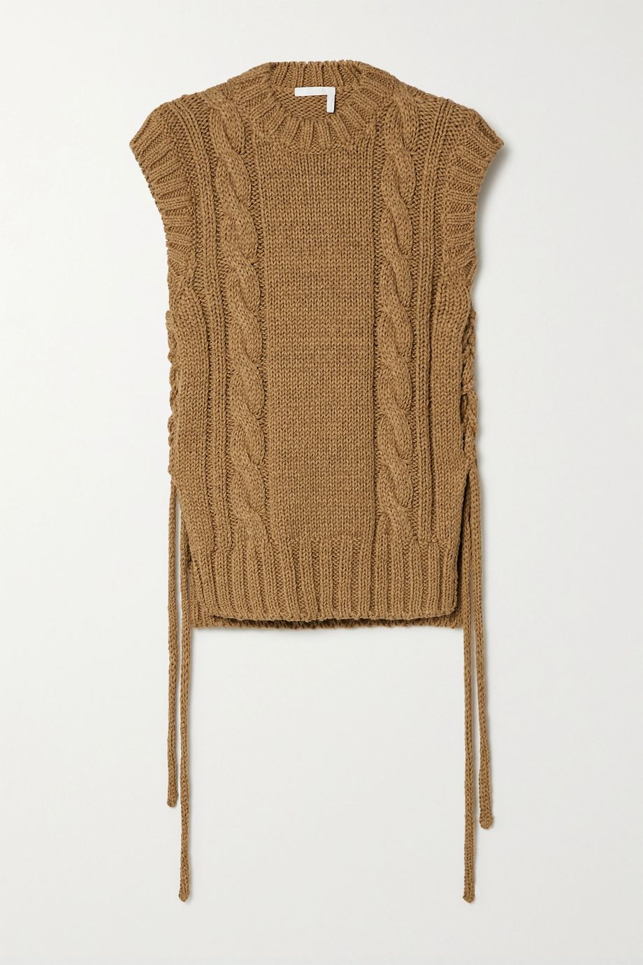 Chloé Lace-up cable-knit tank