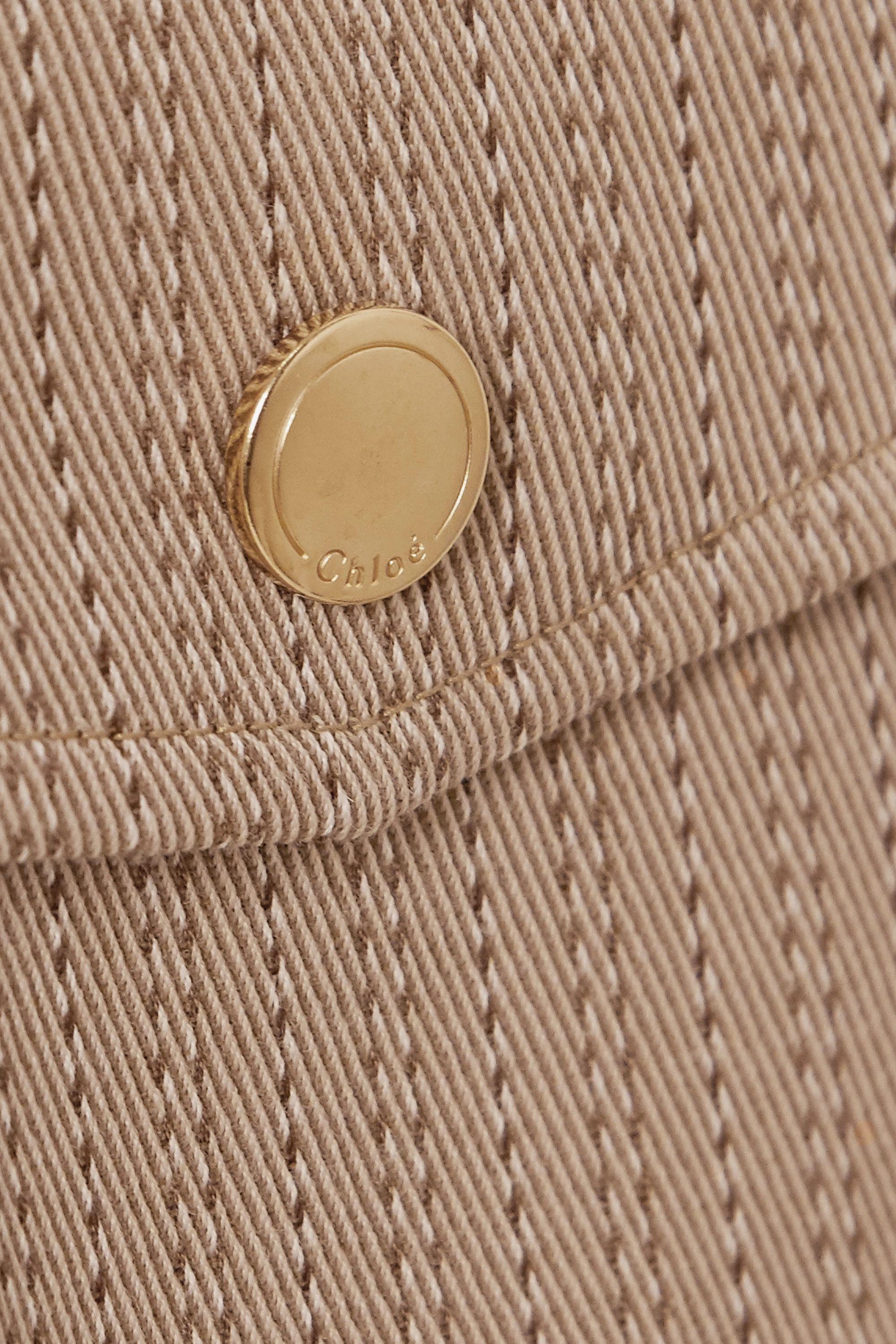 Beige Pinstriped Wool-twill Shorts | Chloé
