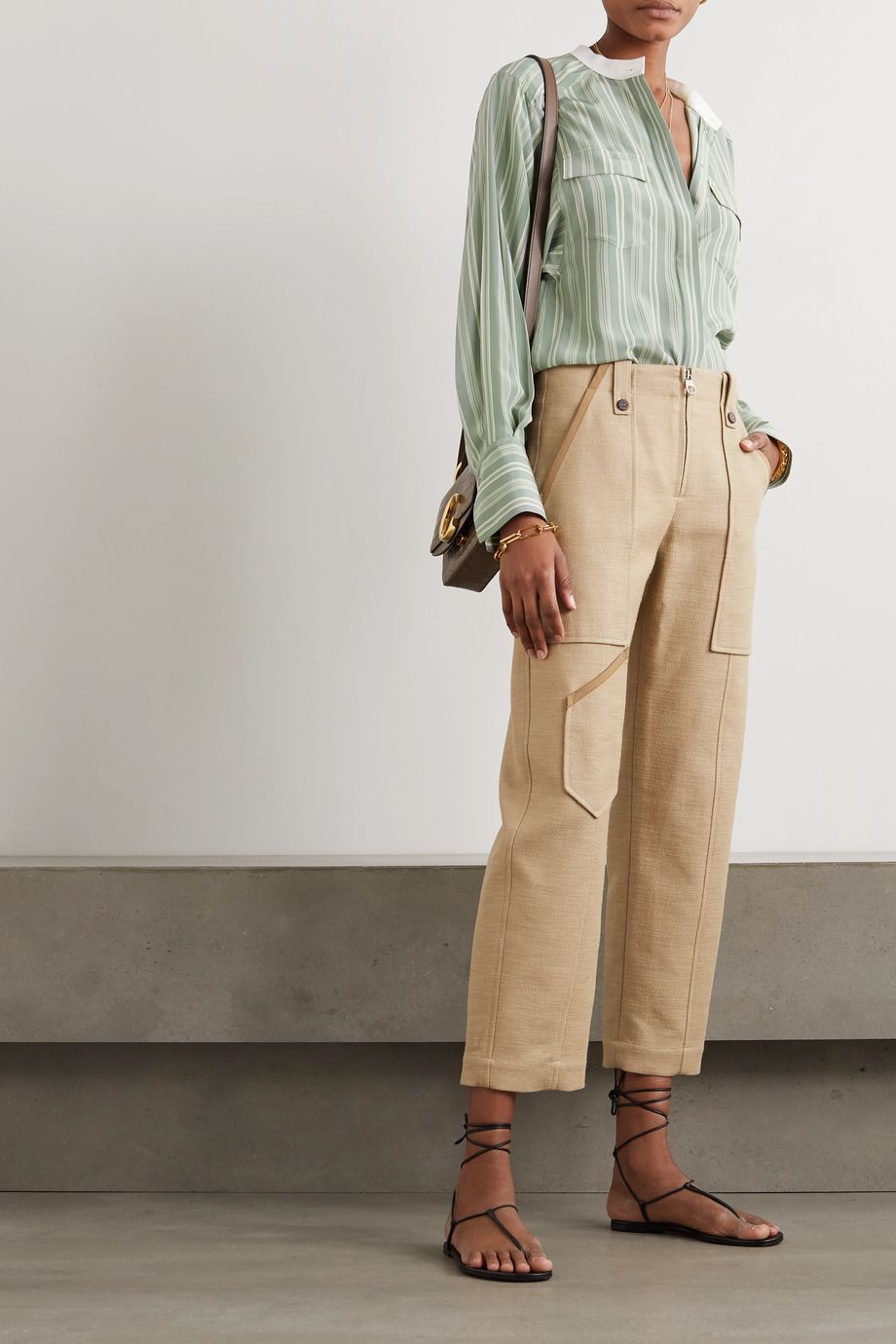 Chloé Striped silk crepe de chine shirt