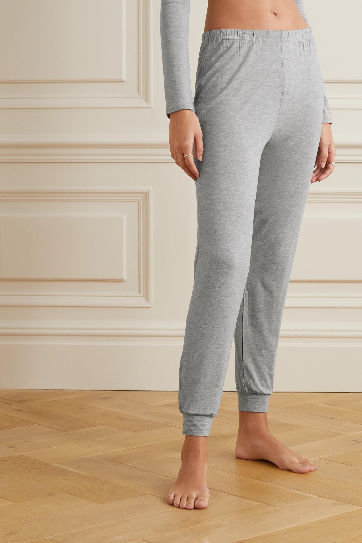 Morgan Lane June lace-trimmed jersey pajama set