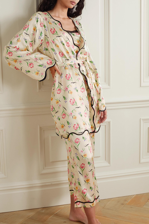 Morgan Lane Anabelle floral-print crepe robe