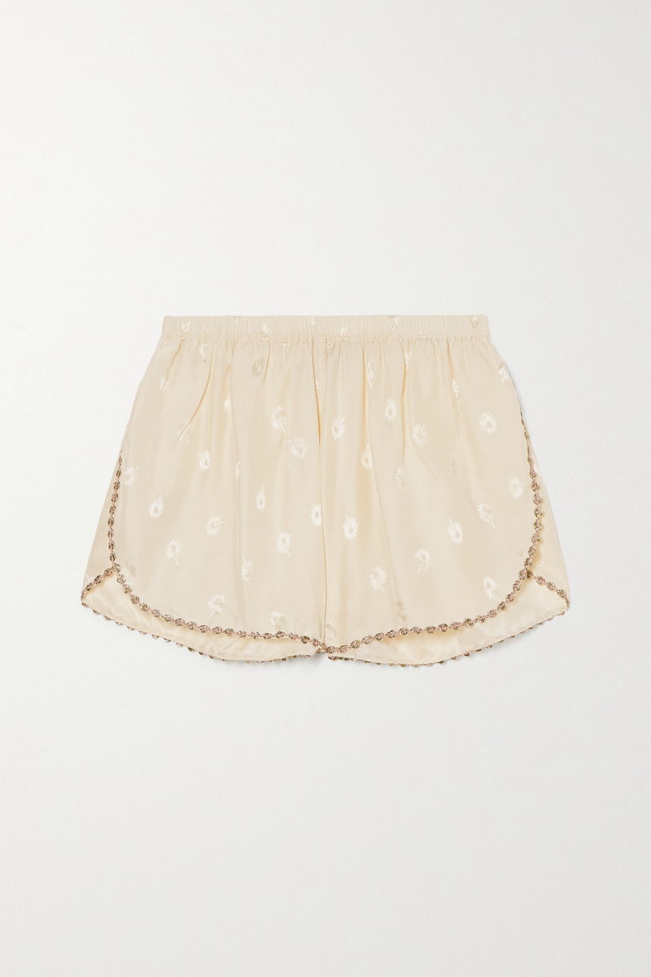 Morgan Lane Rosie embroidered silk-blend jacquard pajama shorts