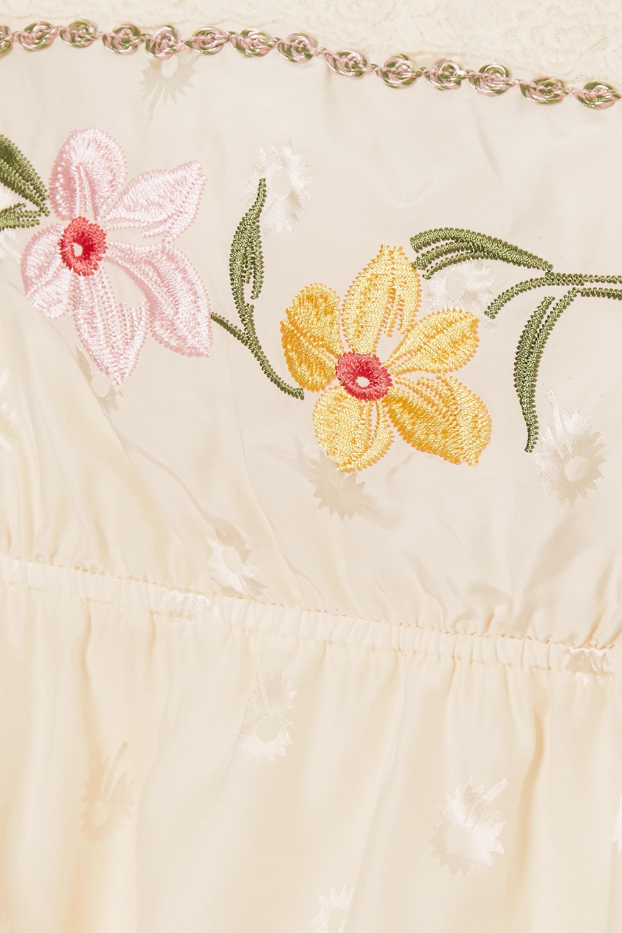 Morgan Lane Darcie embroidered silk-blend jacquard camisole
