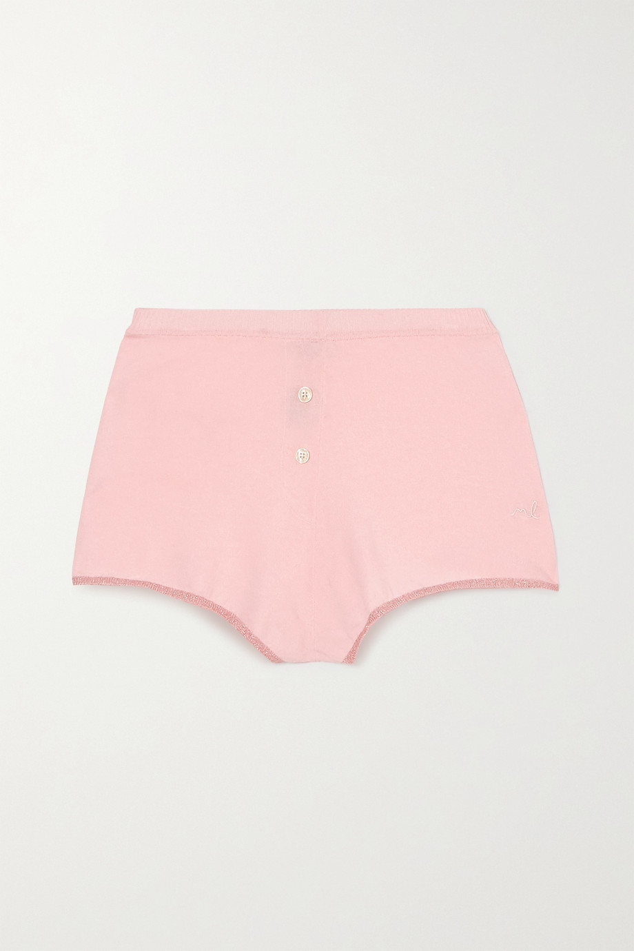 Morgan Lane Izzy Lurex-trimmed knitted shorts
