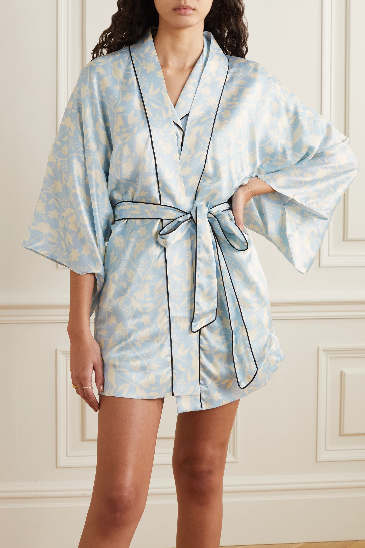 Morgan Lane Nia floral-print satin robe