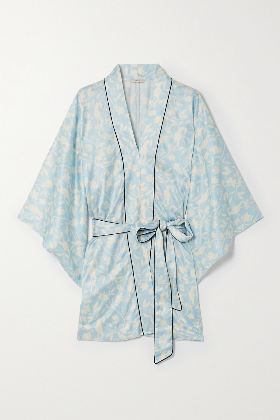 Morgan Lane Nia floral-print satin robe