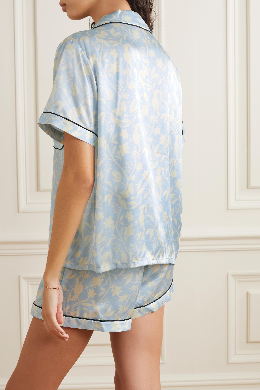 Morgan Lane Katelyn Fiona floral-print satin pajama set