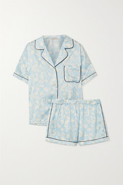 Morgan Lane Katelyn Fiona floral-print satin pajama set