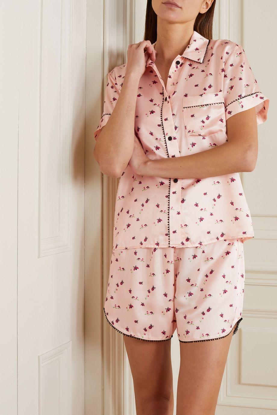Morgan Lane Tami Bea Pyjama aus bedrucktem Satin