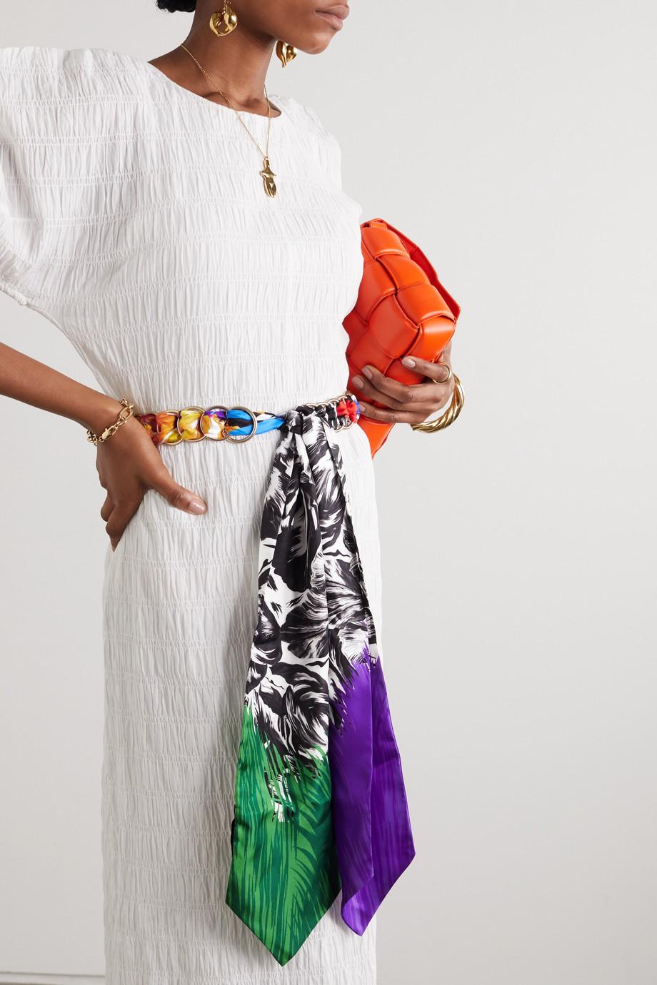 Missoni Printed silk and gold-tone belt