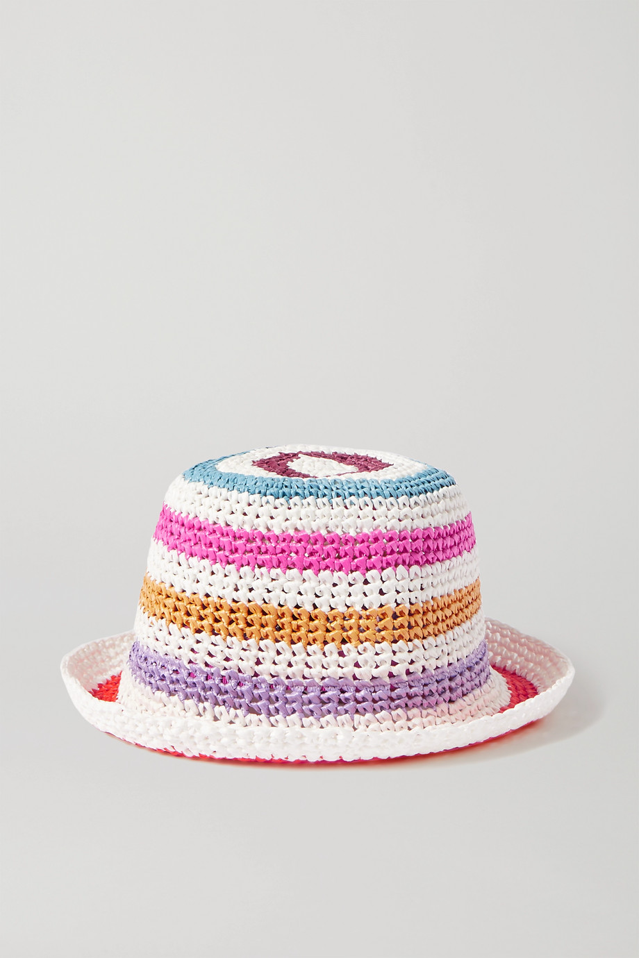 Missoni Striped crochet-knit bucket hat