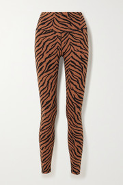 Varley Century zebra-print stretch leggings