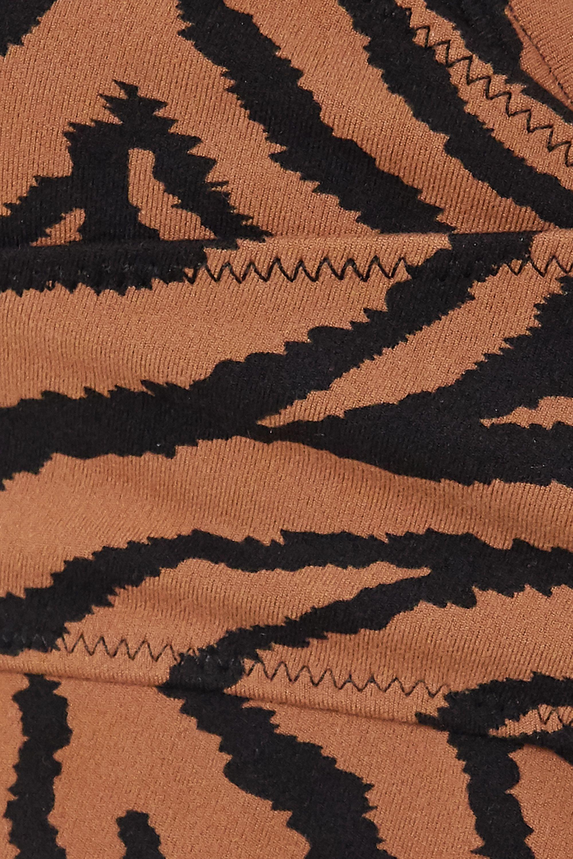 Varley Kellam Sport-BH aus Stretch-Material mit Zebraprint und Wickeleffekt