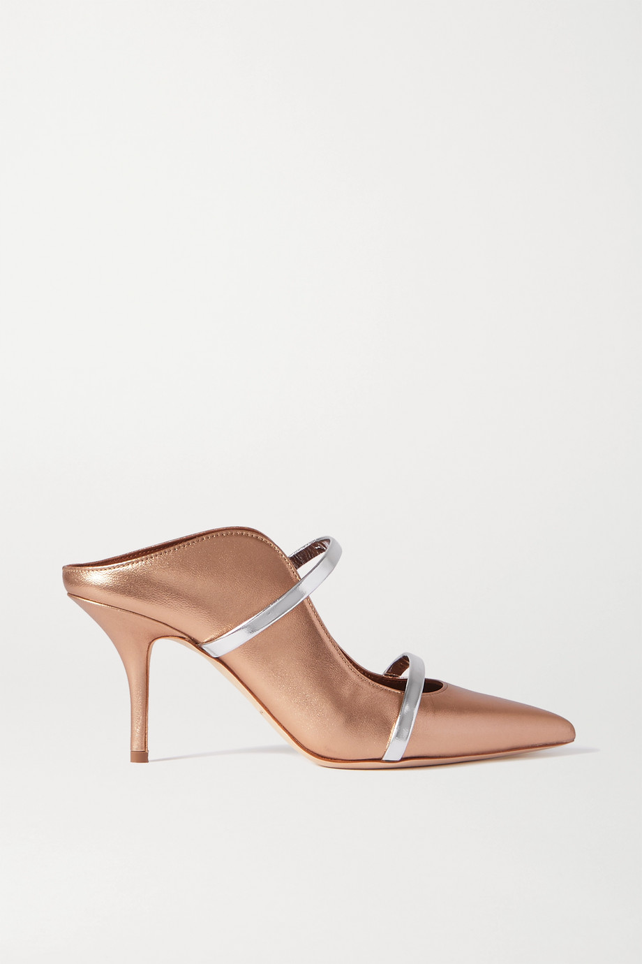 Malone Souliers Maureen 70 metallic leather mules