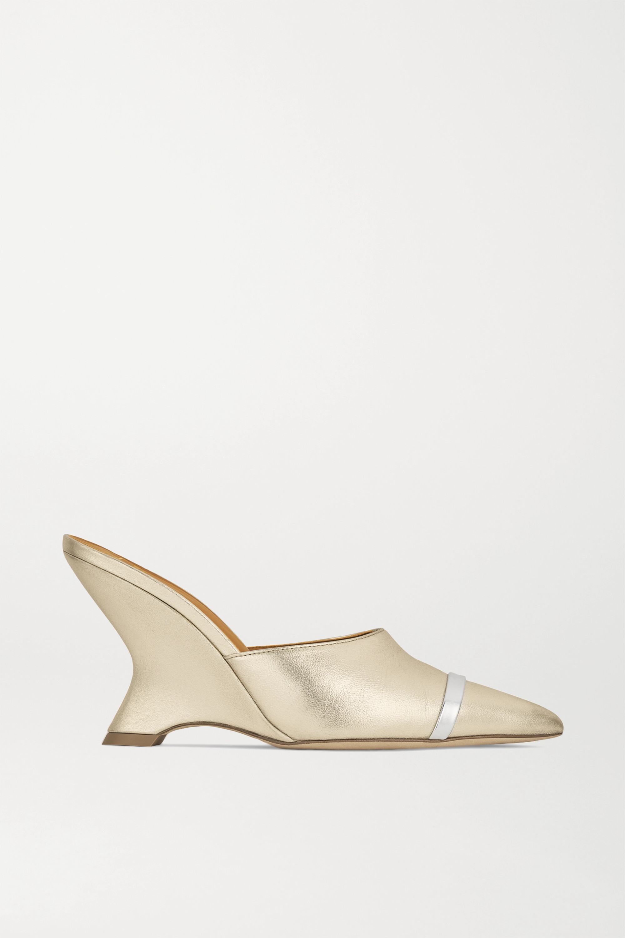 Malone Souliers Marilyn 80 metallic leather mules