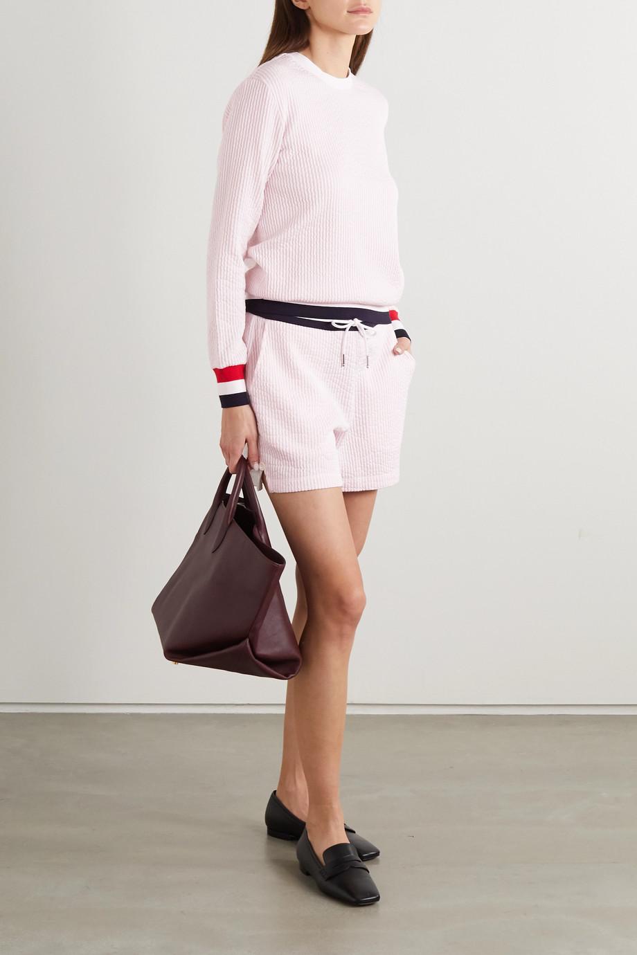 Thom Browne Striped cotton-seersucker shorts