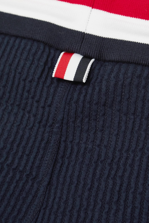 Navy Striped Cotton-seersucker Track Pants   Thom Browne