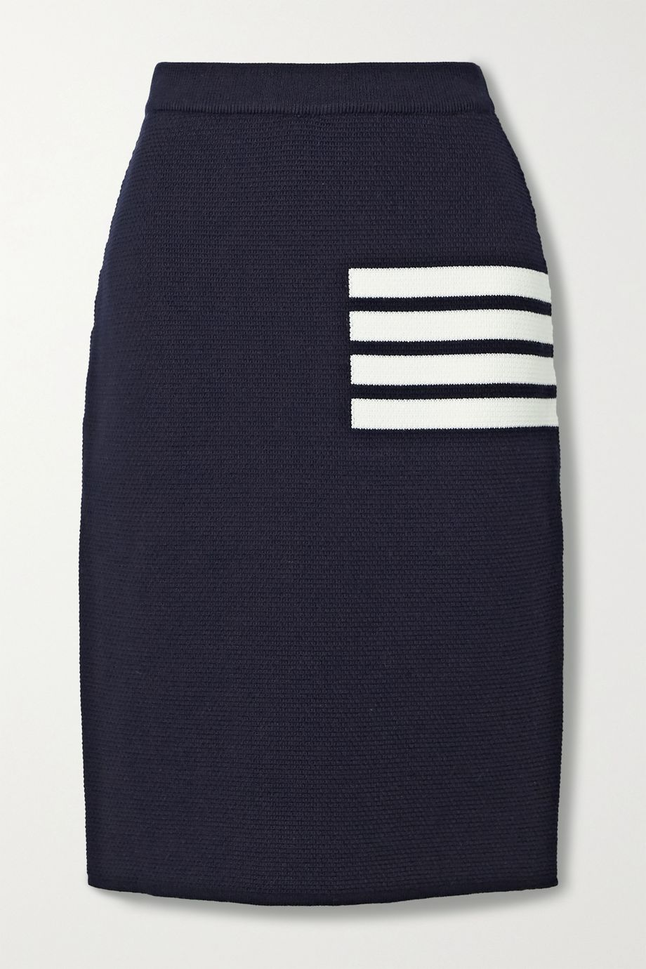 Thom Browne Striped merino wool-blend skirt