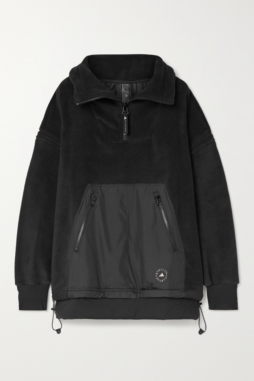 adidas by Stella McCartney Paneled fleece and shell jacket