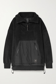 adidas by Stella McCartney Paneled fleece and shell jacket
