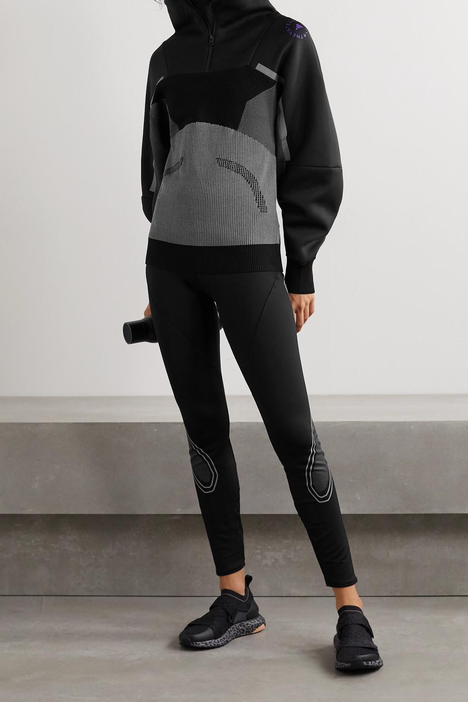 adidas by Stella McCartney Paneled mesh and jacquard jacket