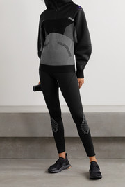 adidas by Stella McCartney Paneled mesh and jacquard jacket