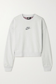 Nike Printed cotton-blend jersey sweatshirt