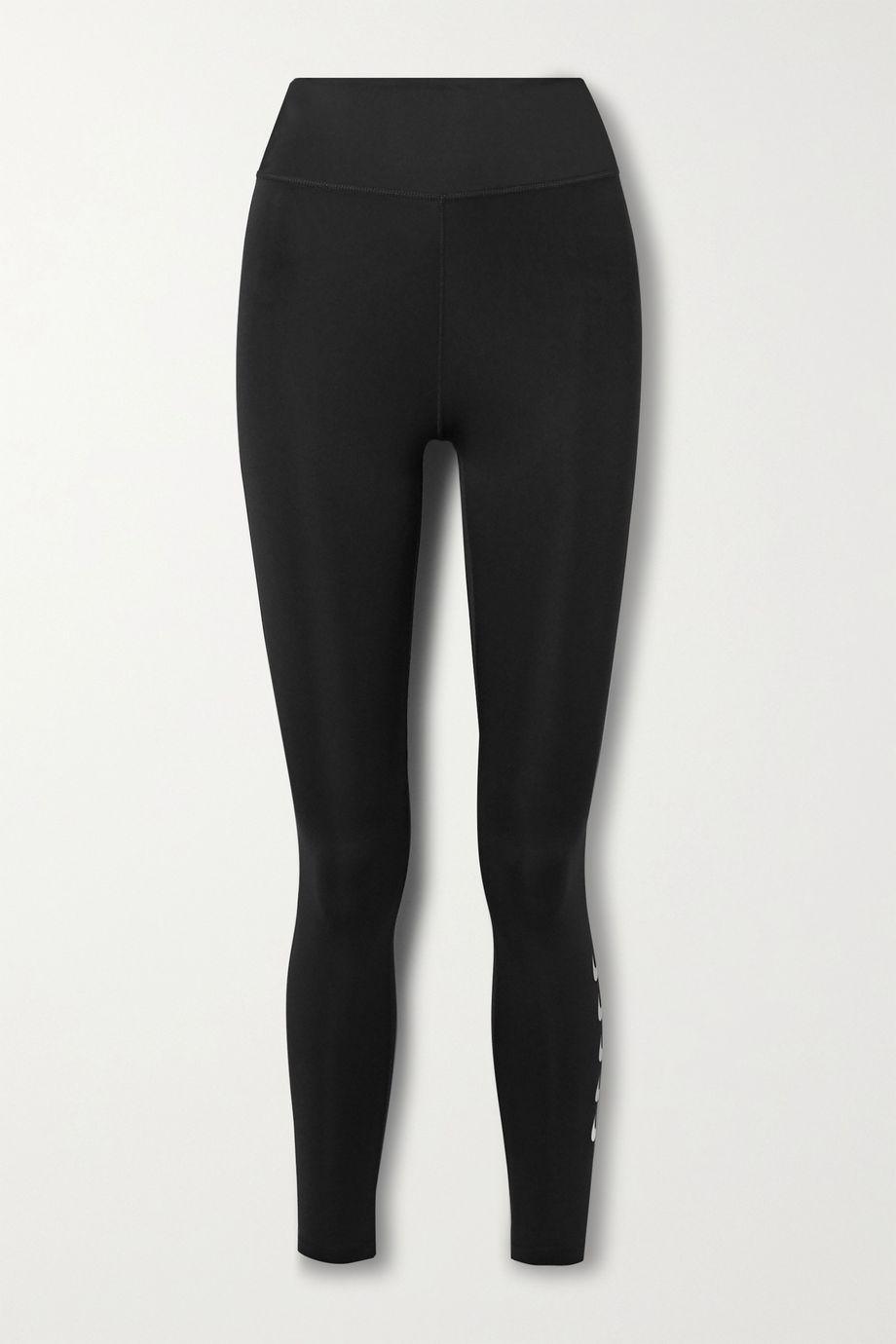 Nike Swoosh Run Leggings aus Dri-FIT-Material mit Print