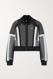 Nike Pro cropped Dri-Fit stretch-jersey track jacket