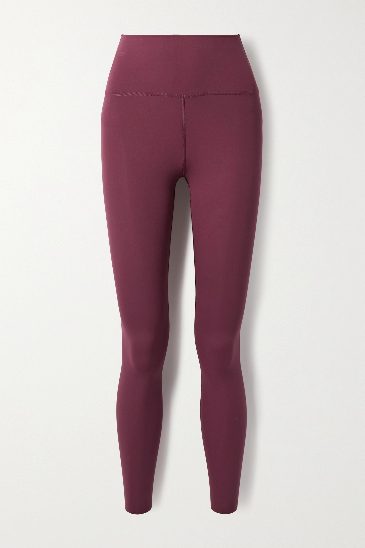 Magenta Yoga Luxe Cropped Dri Fit Leggings Nike Net A Porter
