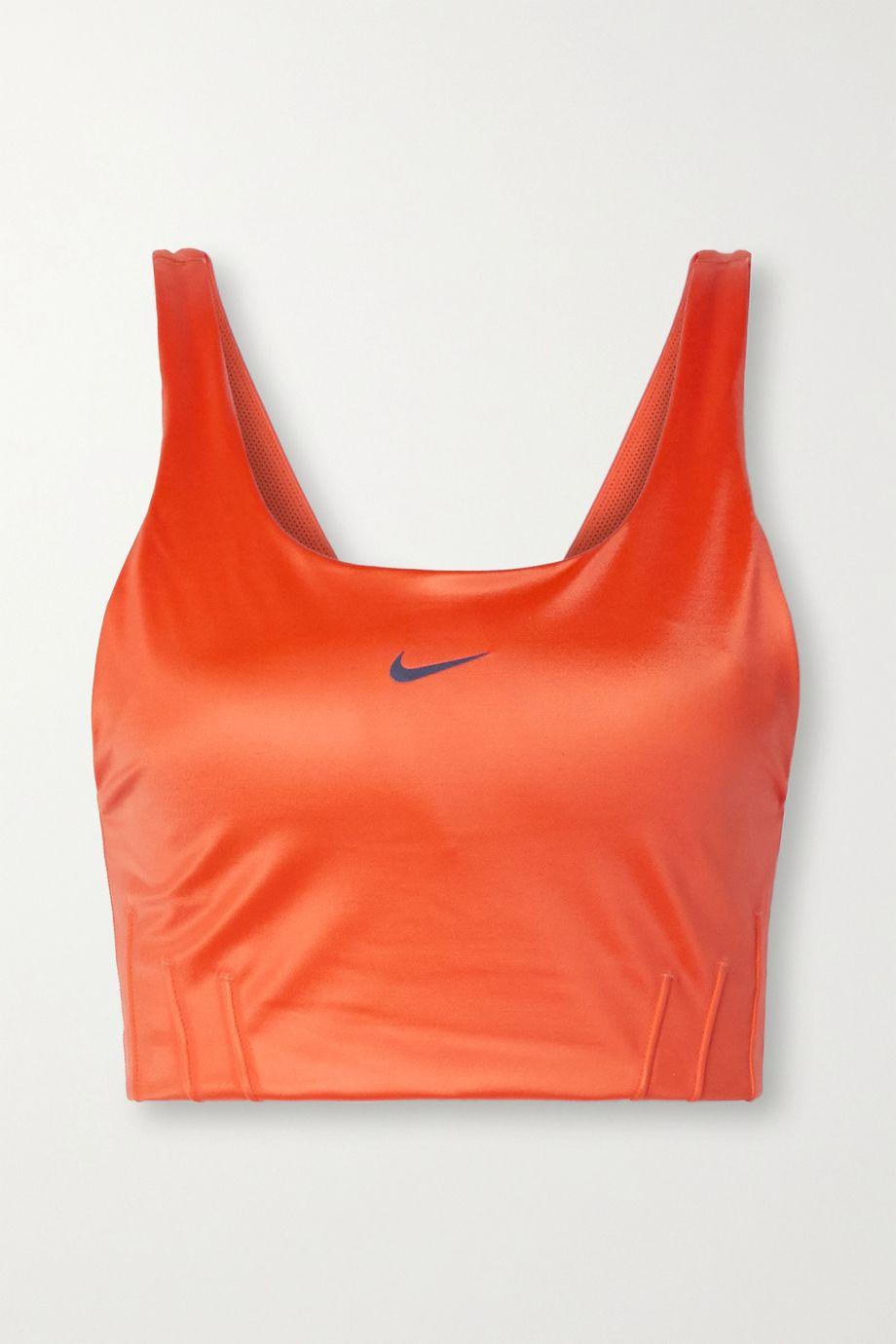 Nike Swoosh City Ready coated stretch sports bra