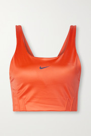 Nike Swoosh City Ready coated stretch sports bra