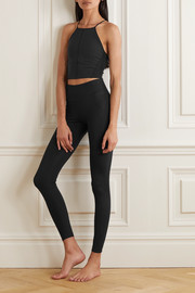 Nike Yoga Infinalon cropped stretch-jersey top