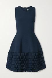 Lela Rose Cutout stretch-knit dress