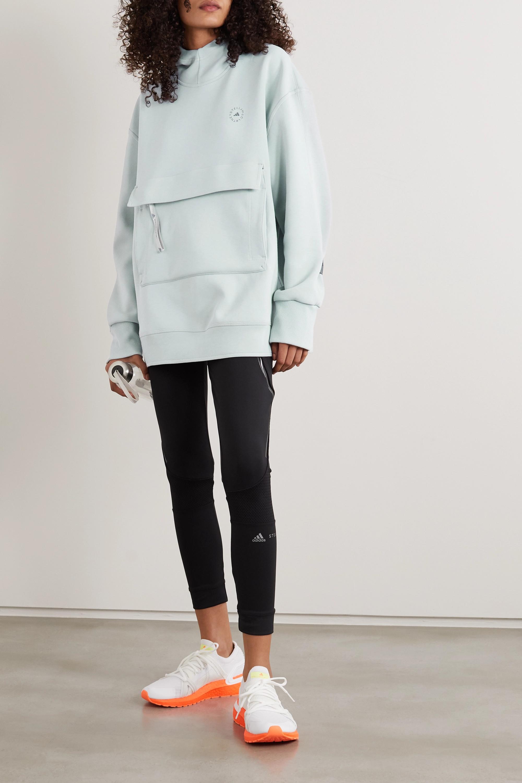 adidas by Stella McCartney Hoodie aus Jersey aus einer Baumwollmischung mit Applikation