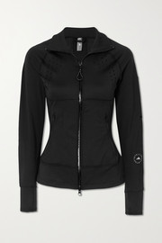 adidas by Stella McCartney TruePurpose perforated stretch-jersey and mesh jacket
